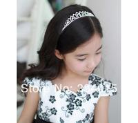 Charming Children/Kids Silver Metal Hair Hairband With Diamond Noble Fashion Pretty Girls headband Accessories FG104