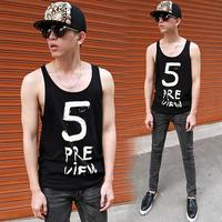 Fashion Summer 5 Digital Print  Male Basic Undershirt  Vests