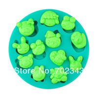 Silicone fondant cake decorating animal mould frog rabbit