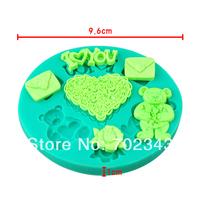 Silicone LOVE Set Soap Molds Cake Mould Fondant Decorations