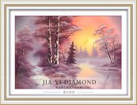 DIY diamond painting  retail 52*40CM 3D square resin diamond cross stitch  rhinestone pasted  Full embroidery  Snow views