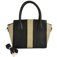 FreshLine Top Grade Wing Shopper Bag Women's Handbag Shoulder Bag Newest Design Black Rivets Colourblock Handbags VK1523