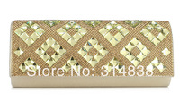 2014 new full diamond luxury fashion clutch evening bags small bags of high-grade banquet dress bag free shipping