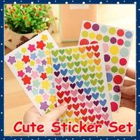 [FORREST SHOP] Korean School Stationery Cute Diary Stickers / Mobile Sticker / DIY Scrapbooking Sticker / Decoration Label SD-1