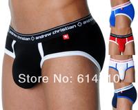 Free shipping 5 pcs/lot American ANDREW CHRISTIAN breathable sexy fashion brand Modal U convex men's underwear briefs Hot sale