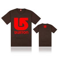 Cheap designer hip hop t-shirt male cotton short sleeve tshirt o neck Burton T shirts for men plus size casual street wear sale