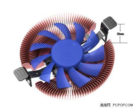 Free shipping Ultra-thin daozi 3 heatpipe popular edition 3 one piece machine fan cpu heatsink(China (Mainland))