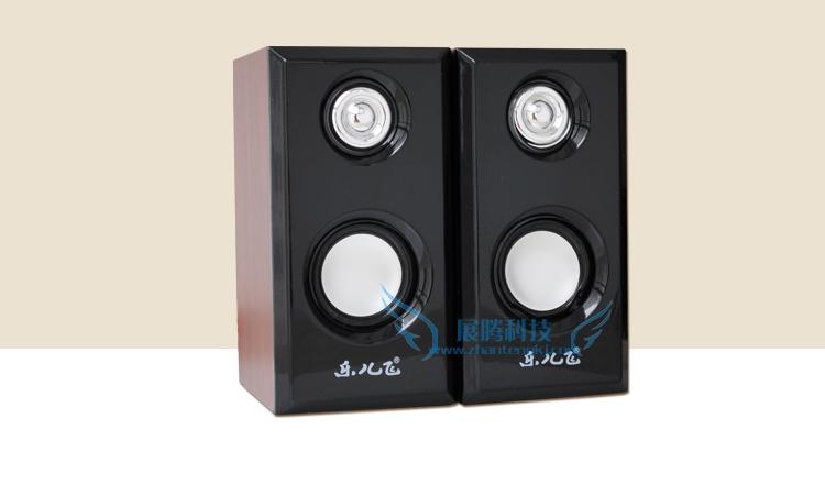 Free shipping Laptop audio desktop usb mini speaker subwoofer portable audio multimedia mini on the box(China (Mainland))