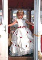 Princess Beautiful Applique Floor Length Flower Girl Dress