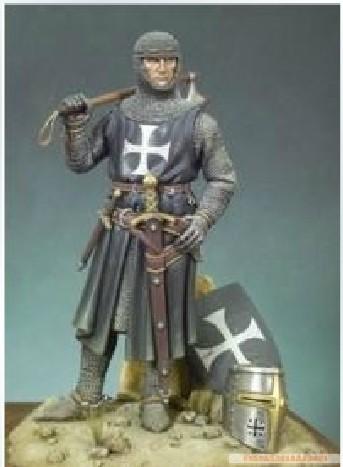 Historical Resin Figure Ancient Figure 120 MM Soldier of Saint John of Jerusalem Knights Hospitaller(China (Mainland))