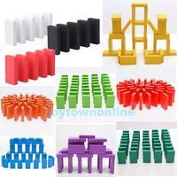 120Pcs 4.4x2.1cm Standard Wooden Domino Children Educational Toys 10 Colors #1JT