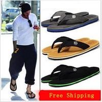 New 2014 Summer Men Casual Flat Sandals,Bakham Leisure Soft Flip Flops,EVA Massage Beach Slipper Shoes For Men Size 40-44