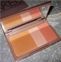 1PCS 2014 new nake, urban brand makeup blush, flushed blusher , Bronzer &Highlighter &Blush 3 in 1 make up pallete