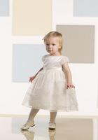 Wholesale Pretty Scoop Neckline Tea Length Short Sleeves Flower Girl Dress