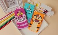 2014 Cute Cartoon tiger Monsters Inc. Sulley Marie/Alice Cat slinky dog silicone phone cases covers for Samsung Galaxy s5