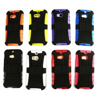 Hybrid High impact Soft Combo TPU case for HTC One M8 with Stand holder Drop resistance Shock-proof