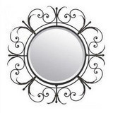 Fashion rustic wrought iron mirror iron frame picture frame bathroom mirror dressing mirror vanity mirror(China (Mainland))