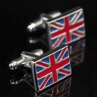 2014 United kingdom flag printed fashion Cufflinks cufflink for mens