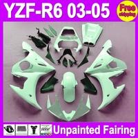 7gifts Unpainted Full Fairing Kit For YAMAHA YZF-R6 03-05 YZFR6 YZF600 YZF R6 R 6 YZF 600 03 04 05 2003 2004 2005 Fairings