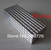 300Pcs D6 x 6mm Small Round Rare Earth  Neodymium Magnets Magnet N35 Free Shipping