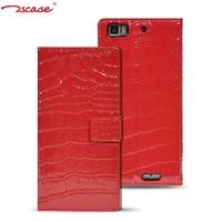 Original Tscase Brand Genuine Leather crocodile pattern Case For Lenovo K900 Free Shipping 4 colors cheap luxury flip cover