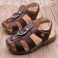 2014 child sandals male sandals cow muscle outsole velcro sandals soft slip-resistant outsole genuine leather