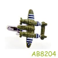 Personality Green plane Cufflinks men jewelry AB8772 Crazy Promotion
