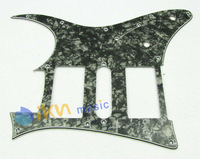 Electric Guitar Pickguard HSH 10 Hole 3 Ply Black Pearl for RG 7V Guitar