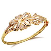 2014 bangle bracelet 18k gold filled top zircon rhinestone bracelets for women bijoux vintage luxury
