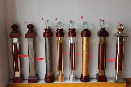 de escada braço corrimão de alumínio liga de magnésio grande coluna pilar decoração bola de cristal decoração lansdowne unribbed(China (Mainland))