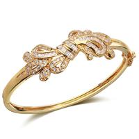 2014 Quality 18K gold / Platinum Austrian Crystal bangle bracelet Wedding jewelry for women