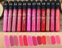 12pcs/lot Waterproof 12 Color Lipstick matte smooth lip stick lipgloss Long Lasting Sweet girl Lip Makeup