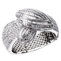 2014 Luxury Design Women Bangle Cubic Zircon CZ 18K Gold Filled Channel Fashion Jewelry Bijoux Bridal Wedding Wholesale