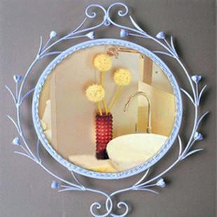 Perfect tieyi makeup mirror bathroom mirror iron frame decoration mirror wall mirror(China (Mainland))