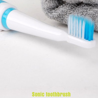 Massage Sonic Toothbrush TB-002 Waterproof Electric toothbrush with 3 replaceable head cleaning 150pcs/lot
