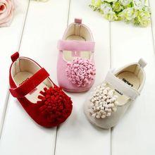 bonito wx039 primavera& bebê outono doce flor sapatos antiderrapante crianças meninas primeiros caminhantes& livre transporte da gota(China (Mainland))