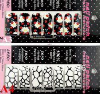 Free Shipping Nail Stickers All Nail art, High quality fashion popular nail decal with separate packaging 100 pcs/lot