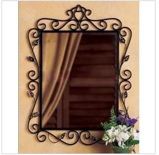 Fashion iron frame bathroom mirror wall dressing mirror makeup mirror bathroom vanity mirror(China (Mainland))