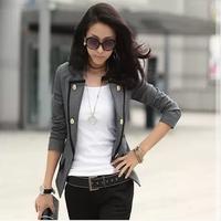 Women's OL short design slim long-sleeve women's blazer short jacket a
