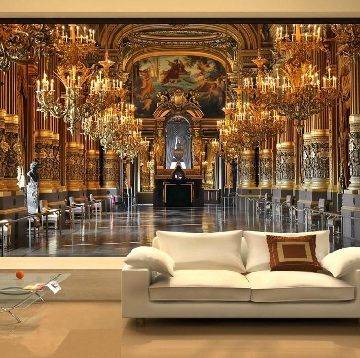 6179- di lusso Golden Palace II personalizzati murale carta da parati