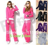 Hot Sale Free shipping Women Leisure Wear Twinset Sportswear Lady Sports Sweat Suits Tracksuit Winter/Autumn Sports Clothes Set