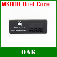 Free Shipping-  MK808 Dual Core Android TV Box/Mini PC RK3066 1GB +8GB Built-in WiFi Support HDMI/1080P High Quality
