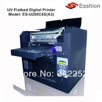 Advanced A3 size 6 colors UV LED flatbed digital printer/Phone case printer