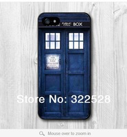 Free Shipping Tardis Doctor Who Hard Cover Skin Case for iPhone 5(black side or white side )