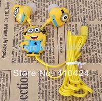 Cartoon Anime Despicable Me Minions earbuds Cute Earphone 3.5mm In-Ear fone de ouvido headphone for Computer phone MP3