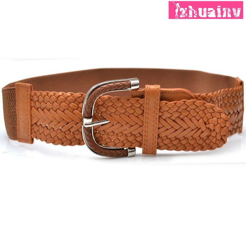 2014 New Vintage knitted strap Women women's belt cummerbund female all-match elastic waist belt Free Shipping(China (Mainland))