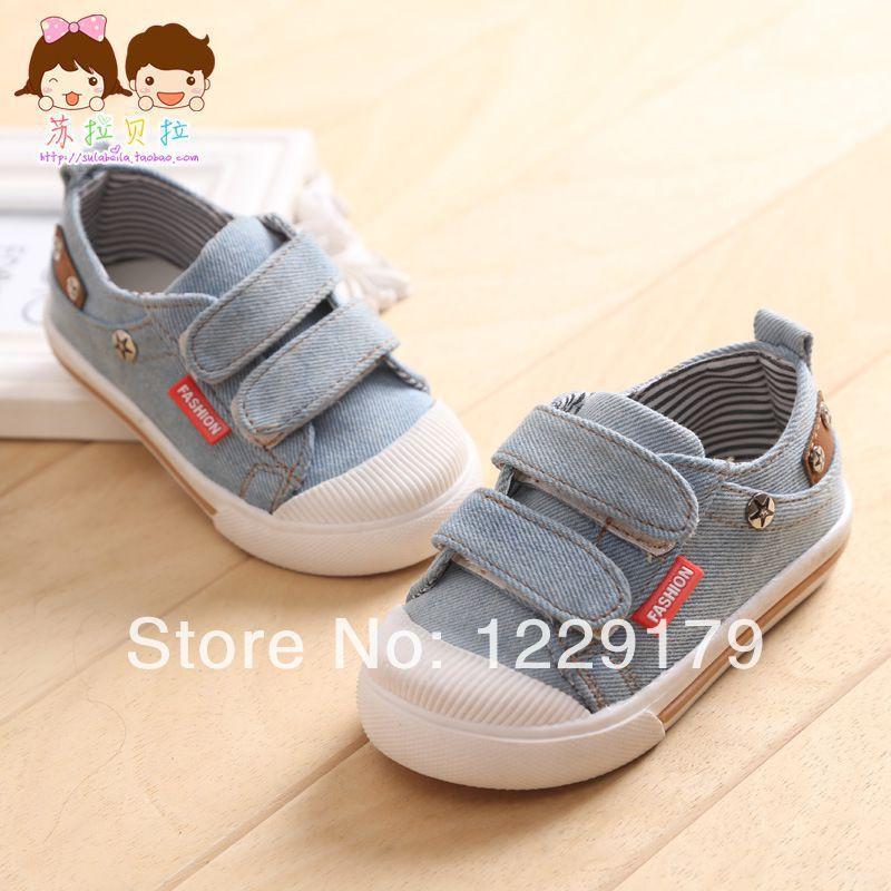 Дети деним скейтбординг обувь хлопок - сделано вилочная часть дети обувь младенцы sneakers1 - 3 года старый дети младенцы брезент обувь