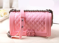 New 2014 women messenger bag women's jelly candy colors handbags brand designer ladies chain shoulder bags HB0012