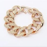 European and American fashion brand luxury goods selling crude chain bracelet simple joker