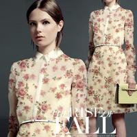 100% mulberry silk organza fabric floral print for dress shirts DIY